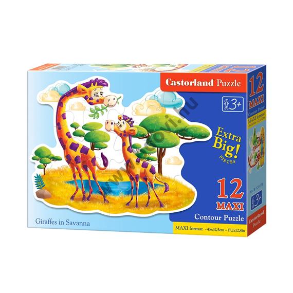 Zsiráfok a szavannában 12db-os maxi puzzle