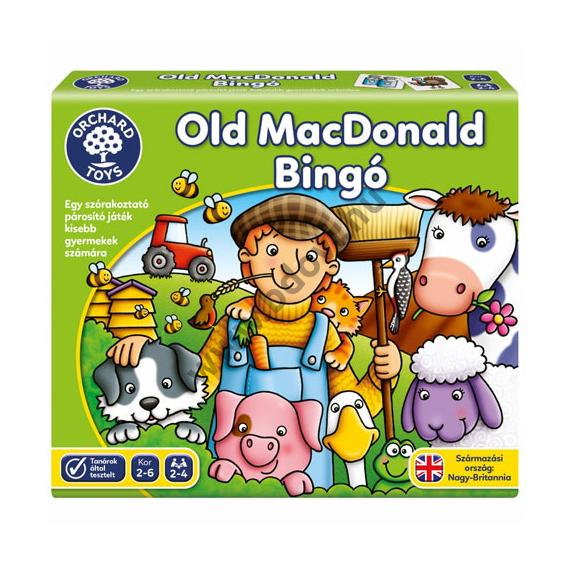Old MacDonald bingó társasjáték