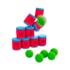 Kép 2/3 - Dobozos célbalövő játék 10 doboz + 6 labda