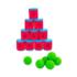Kép 1/3 - Dobozos célbalövő játék 10 doboz + 6 labda