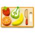 Kép 1/2 - Szeletelhető gyümölcs játékkészlet tálcán