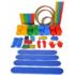 Kép 1/5 - Mozgásfejlesztő készlet MAXI tároló táskával