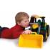 Kép 3/3 - Óriás traktor homokrakodóval sárga/zöld 62 cm