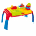Kép 1/3 - Színes építőkocka szett hordozható asztallal