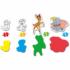 Kép 2/2 - Disney állatok 4 az 1-ben puzzle szett