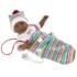 Kép 2/2 - Cuqui 30 cm-es síró néger baba színes sapival