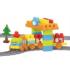 Kép 1/2 - Baby Blocks vasútépítő szett 89 db-os vasútépítő szett