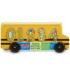 Kép 2/2 - Fa formarendező iskolabusz számokkal
