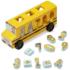 Kép 1/2 - Fa formarendező iskolabusz számokkal